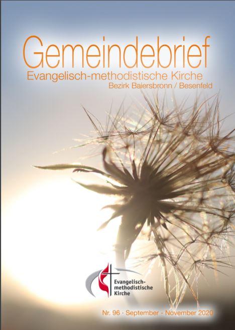 Gemeindebrief Nr. 96 September 2020 – November 2020